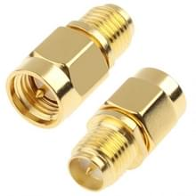 SMA Male to RP-SMA Female Adapter (Gold Plated)