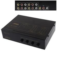 4-Way Video & Audio AMP Splitter with Switch  4 Inputs  1 Output (JM-VA401)