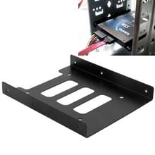 SSD HDD 2 5 inch naar 3 5 inch Converter Hard Drive metaal Bracket Adapter Holder(Black)
