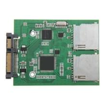 Dual SD Card To 22 Pin SATA Adapter Converter Card