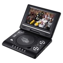 7.5 inch TFT LCD Screen Portable DVD with TV Player  Support SD / MMC Card / Game Function / USB Port(Black)