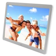 15 6 inch TFT LCD Display Multi-media Digital Photo Frame met muziek & Movie Player / Remote controlefunctie  ondersteuning voor USB / SD Card ingang  gebouwd in Stereo Speaker(White)
