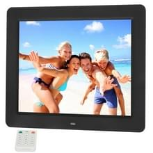 10.4 inch TFT LCD Display Multi-media acryl materiaal Digital Photo Frame met muziek & Movie Player / Remote controlefunctie  ondersteuning voor USB / SD Card ingang  gebouwd in Stereo Speaker(Black)