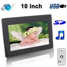 10 inch digitale foto Frame Support SD / MMC / MS Card en USB(1011B)(Black)
