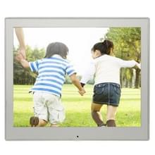 8 inch LED Display Multi-media Digital Photo Frame met houder & muziek & filmspeler  ondersteuning voor USB / SD / SDHC / MMC-kaart Input(Silver)