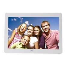 14 inch LED Display Multi-media Digital Photo Frame met houder & muziek & filmspeler  ondersteuning voor USB / SD / MS / MMC Card Input(White)