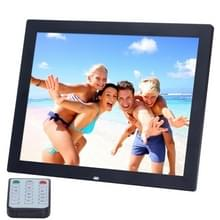 14 inch HD LED Screen Digital Photo Frame with Holder & Remote Control  Allwinner  Alarm Clock / MP3 / MP4 / Movie Player(Black)