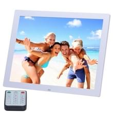 14 inch HD LED Screen Digital Photo Frame with Holder & Remote Control  Allwinner  Alarm Clock / MP3 / MP4 / Movie Player(White)