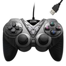 Bekabelde vibratie gamepad PC USB-controller joystick spel handvat (zwart)