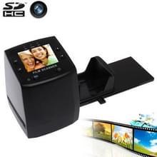 2 4 inch scherm Film Scanner met Capture afbeelding & spiegelbeeld / rotatie  steun SD Card(Black)