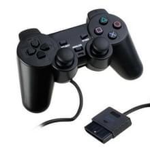 Dual Shock Wired Analog Gaming Controller voor PS2 (Zwart)