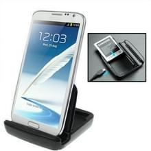 Dual lader van de Sync Dock Cradle ontmoette houder voor Samsung Galaxy Note II / N7100 (zwart)
