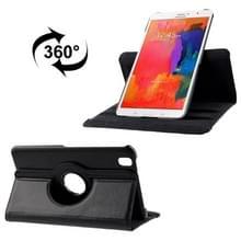 360 graden draaiend Litchi structuur lederen hoesje met houder voor Samsung Galaxy Tab Pro 8.4 / T320 (zwart)
