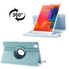 Samsung Galaxy Tab Pro 8.4 inch / T320 Litchi structuur 360 graden draaiend PU leren Hoesje met 2-standen houder (blauw)