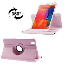 360 graden draaiend Litchi structuur lederen hoesje met houder voor Samsung Galaxy Tab Pro 8.4 / T320 (roze)