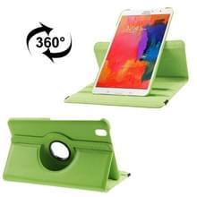 360 graden draaiend Litchi structuur lederen hoesje met houder voor Samsung Galaxy Tab Pro 8.4 / T320 (groen)