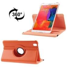 360 graden draaiend Litchi structuur lederen hoesje met houder voor Samsung Galaxy Tab Pro 8.4 / T320 (Oranje)