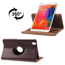 360 graden draaiend Litchi structuur lederen hoesje met houder voor Samsung Galaxy Tab Pro 8.4 / T320 (bruin)