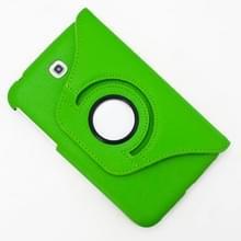 360 graden draaibaar Lichi structuur lederen hoesje met houder voor Samsung Galaxy Tab 3 (7.0) / P3200 / P3210(groen)