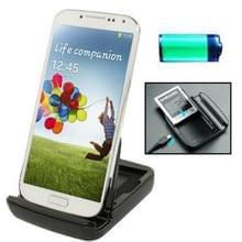 Dual Sync lader Dock Cradle met houder voor Samsung Galaxy S IV / i9500 (zwart)