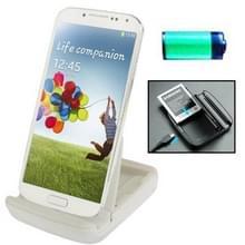Dual Sync lader Dock Cradle met houder voor Samsung Galaxy S IV / i9500 wit