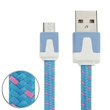 3m Geweven stijl Micro USB to USB Data / laad Kabel  Voor Samsung / Huawei / Xiaomi / Meizu / LG / HTC en Other Smartphones(blauw)