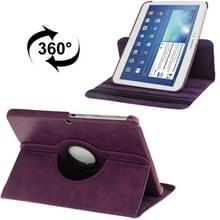 360 graden draaiend Crazy Horse structuur lederen hoesje met houder voor Samsung Galaxy Tab 3 (10.1) / P5200 / P5210  Paars(zwart)