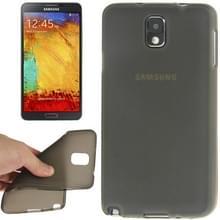 Samsung Galaxy Note 3 / N9000 doorschijnend TPU bumper frame Hoesje (donker grijs)