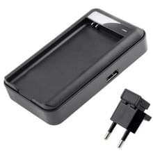 Universele USB uitgang stijl acculader voor Galaxy S5 / G900 (EU Plug)(Black)