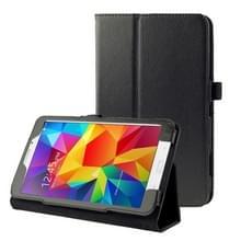 Litchi structuur Flip lederen hoesje met houder voor Samsung Galaxy Tab 4 8.0 / T330 (zwart)