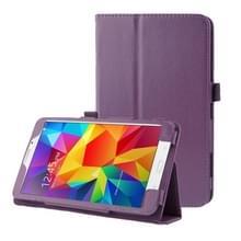 Litchi structuur Flip lederen hoesje met houder voor Samsung Galaxy Tab 4 8.0 / T330 (paars)