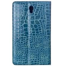 krokodil structuur Flip lederen hoesje met houder voor Samsung Galaxy Tab S 8.4 / T700(blauw)