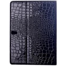 krokodil structuur Flip lederen hoesje met houder voor Samsung Galaxy Tab S 10.5 / T800(zwart)