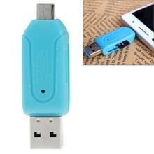 Micro USB Data Interface T-Flash / U-schijf OTG kaartlezer van BR  Voor iPad  iPhone  Galaxy  Xiaomi  Huawei  LG  HTC en andere Smart Phones  Oplaadbare apparaten