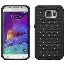Met diamanten ingelegd plastic + TPU combinatie hoesje voor Samsung Galaxy S6(zwart)