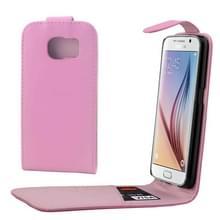 Kleurrijk Verticale Flip hoes met magnetische sluiting lederen hoesje voor Samsung Galaxy S6 / G920(roze)