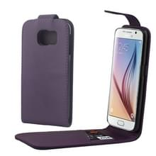 Kleurrijk Verticale Flip hoes met magnetische sluiting lederen hoesje voor Samsung Galaxy S6 / G920(paars)