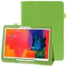Litchi structuur lederen hoesje met houder voor Samsung Galaxy Tab Pro 10.1 / T520 (groen)