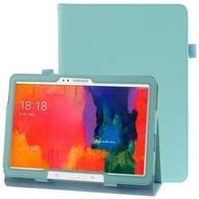 Litchi structuur lederen hoesje met houder voor Samsung Galaxy Tab Pro 10.1 / T520 (blauw)