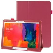 Litchi structuur lederen hoesje met houder voor Samsung Galaxy Tab Pro 10.1 / T520 (hard roze)