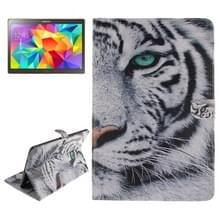 Samsung Galaxy Tab S 10.5 inch / T800 Tijger patroon PU leren Hoesje met houder en opbergruimte voor pinpassen & geld