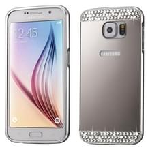 Modieuze galvaniseren Diamante Push Pull Shell backcover + metalen Frame Bumper voor Samsung Galaxy S7 Edge / G935(zilver)