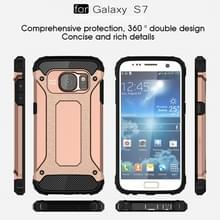 Voor Samsung Galaxy S7 / G930 hard Armor TPU + PC combinatie hoesje (Rose Goud)