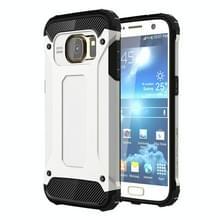 Voor Samsung Galaxy S7 / G930 hard Armor TPU + PC combinatie hoesje wit