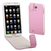 Pure Kleur Vertical Flip lederen hoesje voor Samsung Galaxy S IV / i9500 (Baby Roze)