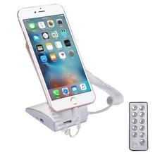Oplaadbare mobiele telefoon Inbraak Alarm Display houder met externe Control(White)