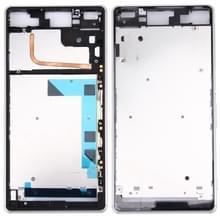 Voorzijde huisvesting LCD Frame Bezel plaat vervanger voor Sony Xperia Z3 / L55w / D6603(White)