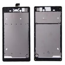 Vervanging van de voorste behuizing met zelfklevend Sticker voor Sony Xperia T3(Black)