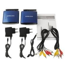 5.8GHz 4 kanalen Wireless AV zender & ontvanger  compatibel met DVD  DVR  CCD-Camera  IPTV  Set-Top Box met satellietverbinding en andere apparaten van de AV-uitgang  ondersteuning van infrarood afstandsbediening  Maximum Transmission afstand: 200m