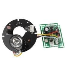 Array 1 LED infrarood Lamp Board voor 6mm Lens CCD Camera  infrarood hoek: 60 graden